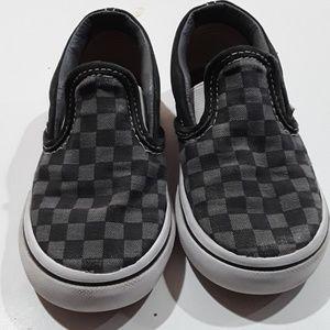 Toddler checkered Van's, size 7